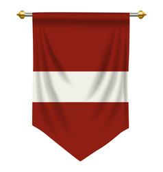 Latvia pennant vector