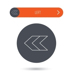 Left arrow icon Previous sign vector image