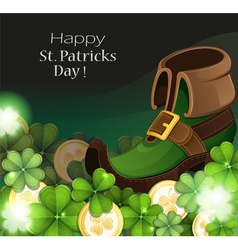 Leprechaun shoe vector image