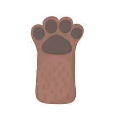 little brown dog raised paw cartoon pets vector image