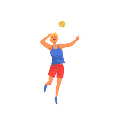 male volleyball player professional sportsman vector image