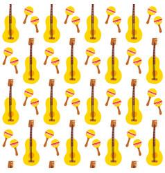 maracas guitar seamless pattern vector image