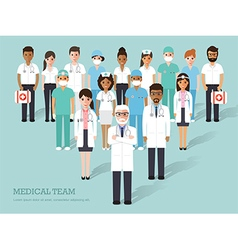 Medical and hospital staffs vector image vector image