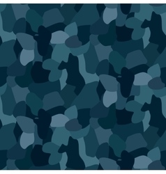 military blue camouflage seamless pattern vector image