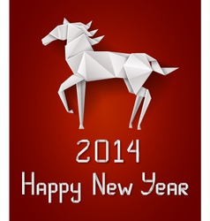 new years horse vector image