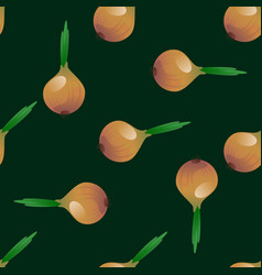 onion seamless pattern vector image