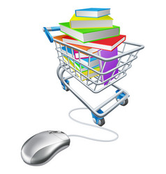 Online education or internet book shopping vector