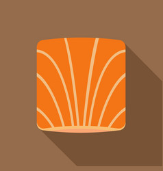 piece of salmon icon flat style vector image