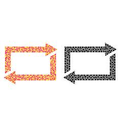 Pixel exchange arrows mosaic icons vector