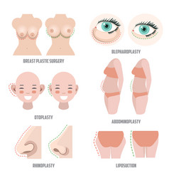plastic surgery set vector image