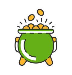 pot gold color icon vector image