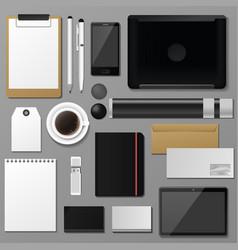 Premium corporate identity template set business vector