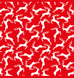 red pattern with reindeer vector image
