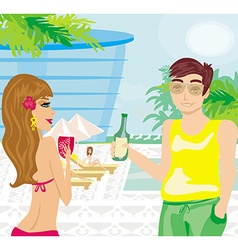 Relax by the pool vector