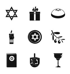 Religionist treatment icons set simple style vector