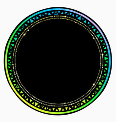 round frame with an ornament multicolored vector image