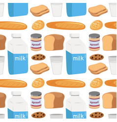 seamless pattern of food vector image