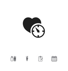 Set of 5 editable exercise icons includes symbols vector