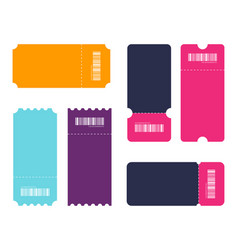 set of ticket template tickets collection of vector image