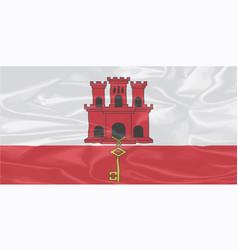 Silk flag of gibraltar vector