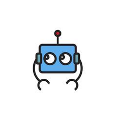 simple bot logo vector image
