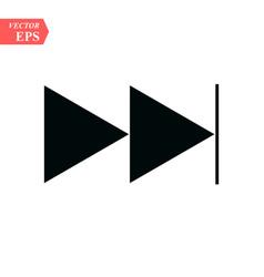 skip forward media control icon button eps10 vector image