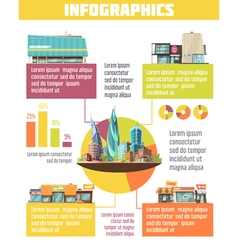 Store Buildings Infographic Set vector image