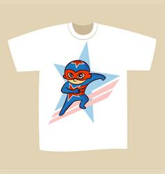 T-shirt print design superhero vector
