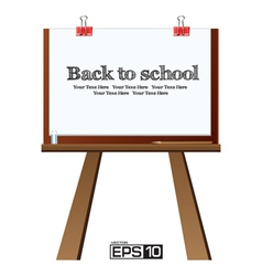 The Drawing Board Background vector image