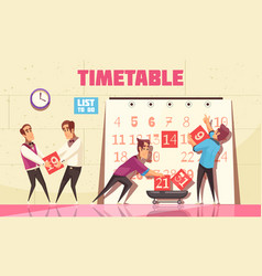 timetable vector image
