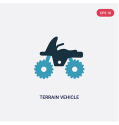 Two color terrain vehicle icon from transport vector