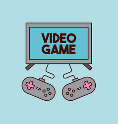 Video games classic console vector