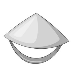 Vietnamese hat icon monochrome vector