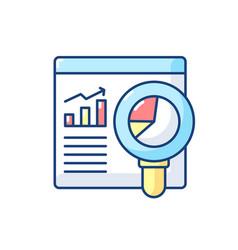 Web analyst rgb color icon vector
