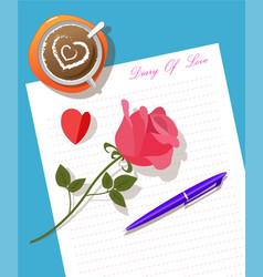 Writing diary vector