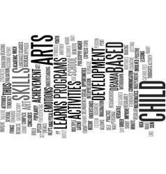 art based activities text background word cloud vector image vector image