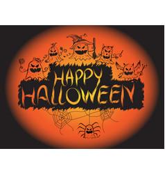 happy halloween pumpkin devil ghost art face vector image vector image