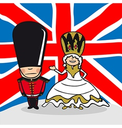Welcome to England people vector image