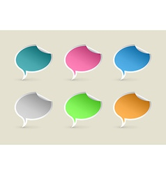 Colorful Paper Speech Bubbles vector image vector image