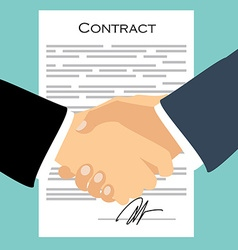 Contract signing concept vector image