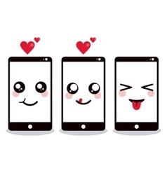 Kawaii icon smartphone Cartoon design vector image vector image