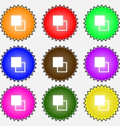 Active color toolbar icon sign A set of nine vector image