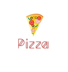 Bright delicious slice of pizza vector image