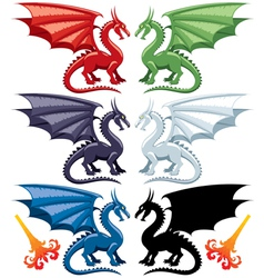 dragons vector image vector image
