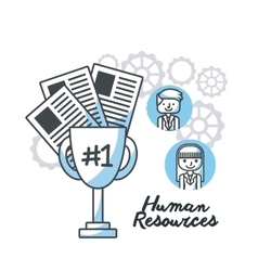 human resources flat line icons vector image