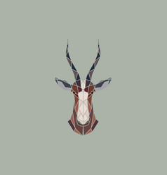 sign abstract head of african antelope bles vector image