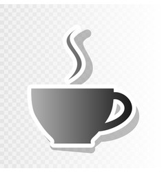 cup of coffee sign new year blackish icon vector image