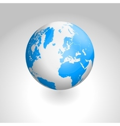 globe icon of the world vector image vector image