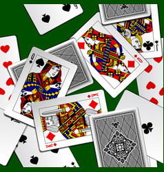 playing cards background vector image vector image