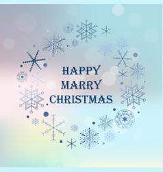 vintage christmas hand drawn card holiday happy vector image vector image